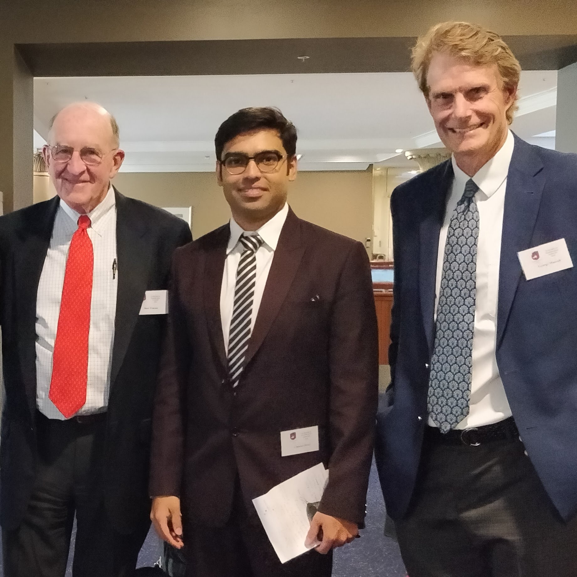 Dr. Chintan Desai with Prof. Russell Warren and Prof. George Murrell